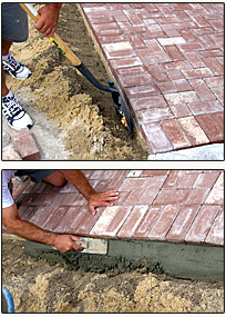 Do it yourself brick paver installation instructions enhance concrete edge restraint installation solutioingenieria Choice Image