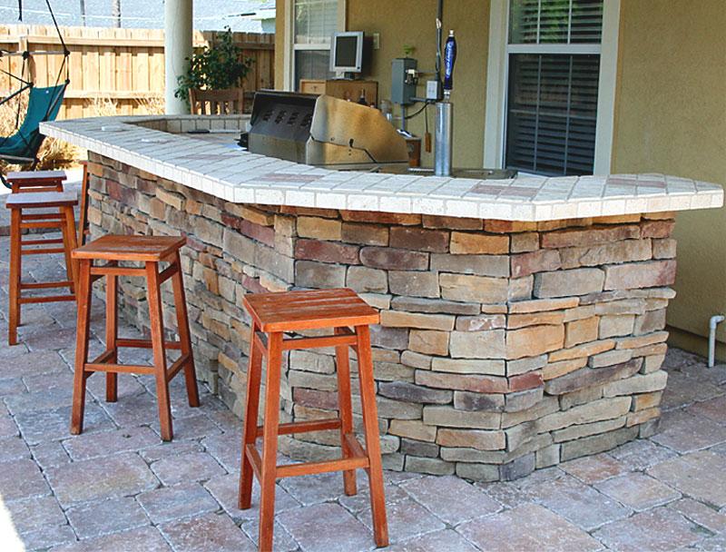 Kitchen Island Kegerator outdoor kitchens and summer kitchens idea & photo gallery