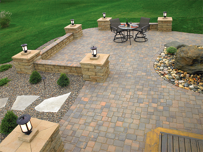 Brick paver patios enhance pavers brick paver Paver patio ideas