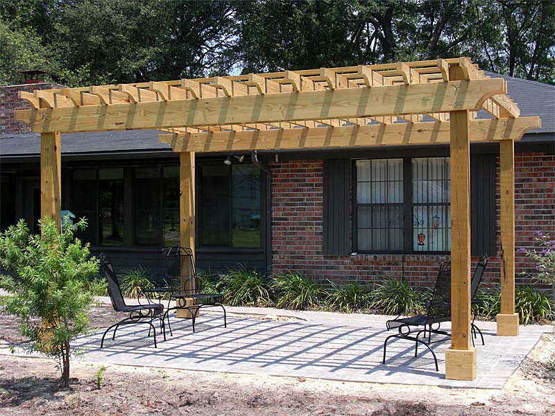 Pergolas arbors enhance pavers retaining walls for Pergola designs