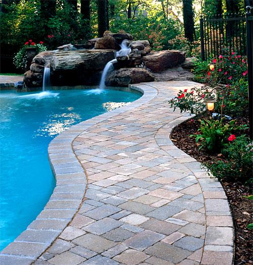 brick paver pool decks   enhance pavers - brick paver installation