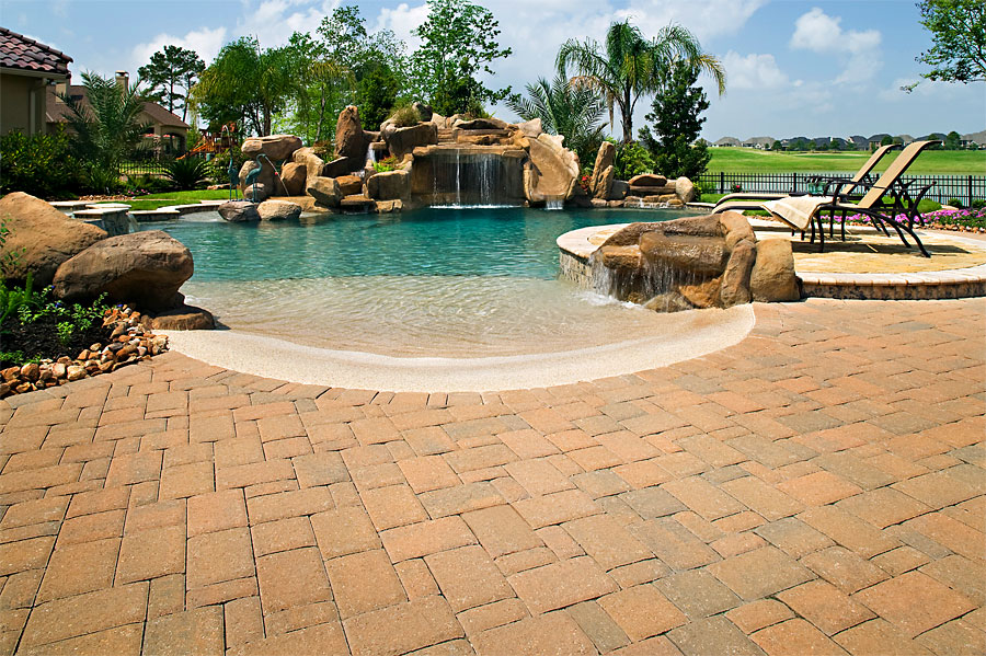 Brick paver pool decks enhance pavers brick paver for Best pavers for pool deck