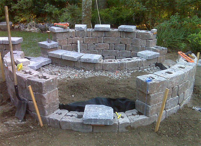 Brick Paver Patio, Custom Firepit, Retaining Wall, U0026 French Doors