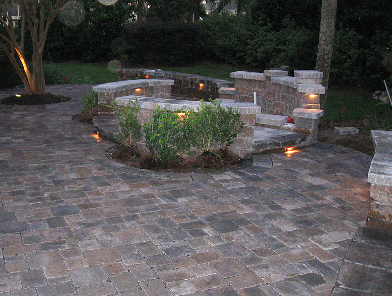 paver patio with pergola. Hardscape Package #4 - Brick Paver Patio, Pergola, Firepit, \u0026 Retaining Wall Enhance Companies Patio With Pergola