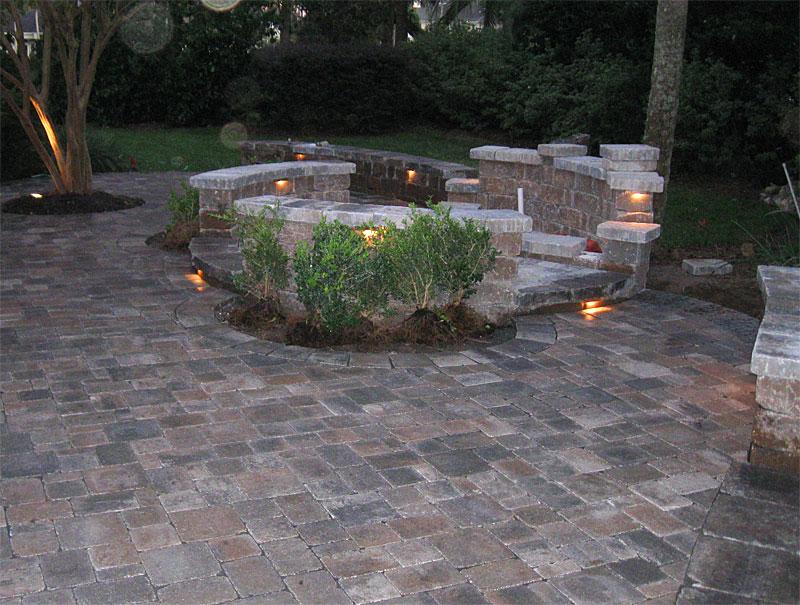 Hardscape Package #4   Brick Paver Patio, Pergola, Firepit, U0026 Retaining  Wall   Enhance Companies