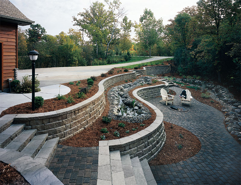 Retaining Walls And Seating Enhance Pavers Retaining