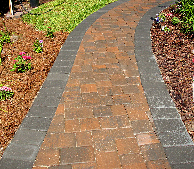Brick paver walkways sidewalks enhance pavers brick paver installation jacksonville - Sidewalk pavers ideas ...