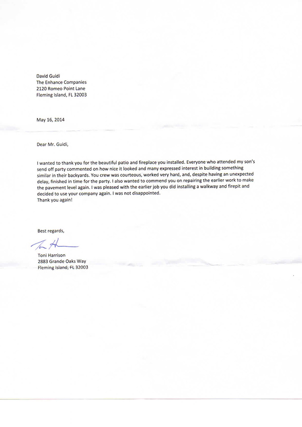 Sample Personal Recommendation Letter Free Sample Thank You Letter