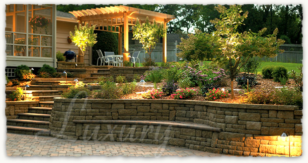 complete hardscape packages brick pavers fencing retaining walls